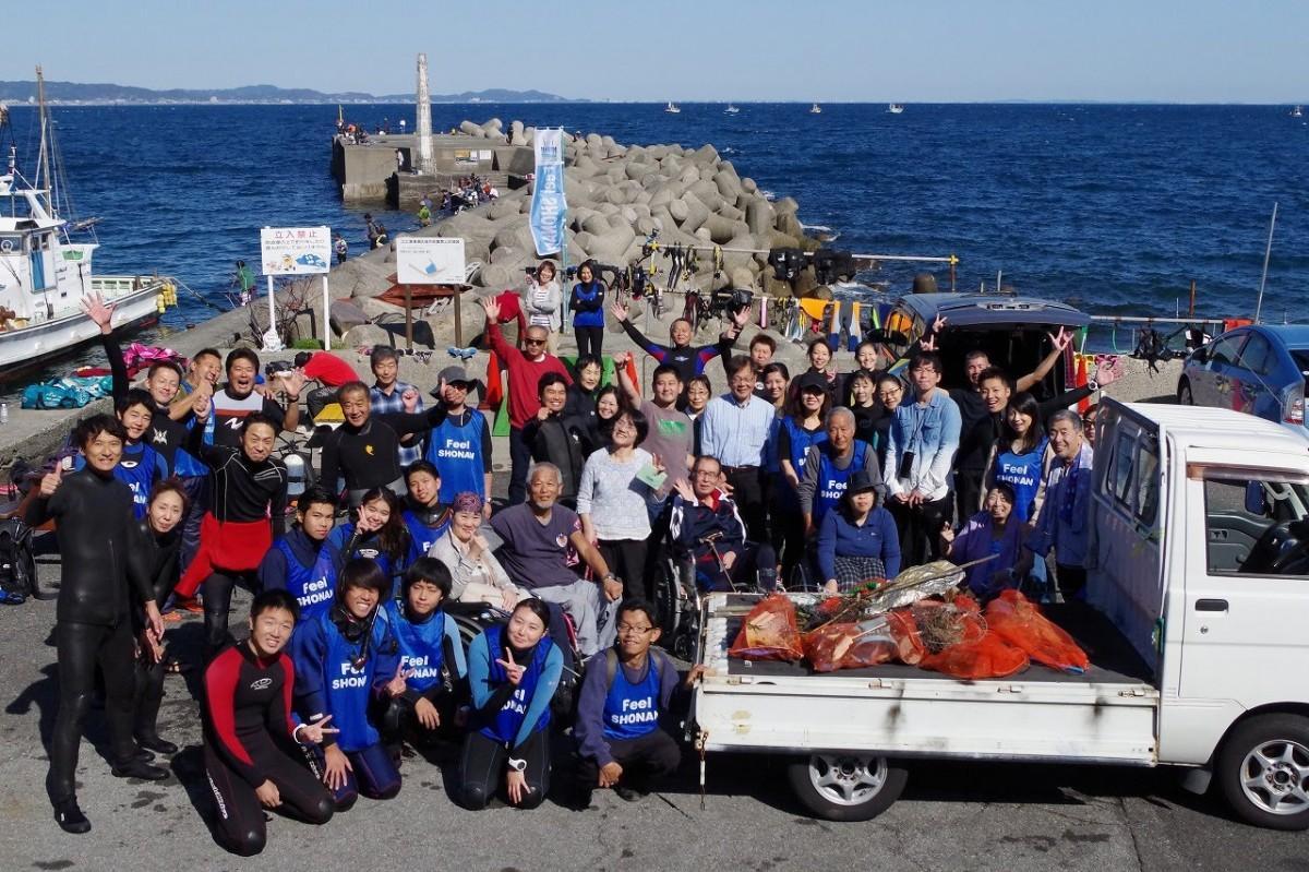 多くのボランティアが参加した「バリアフリーダイビングフェスティバル」の様子