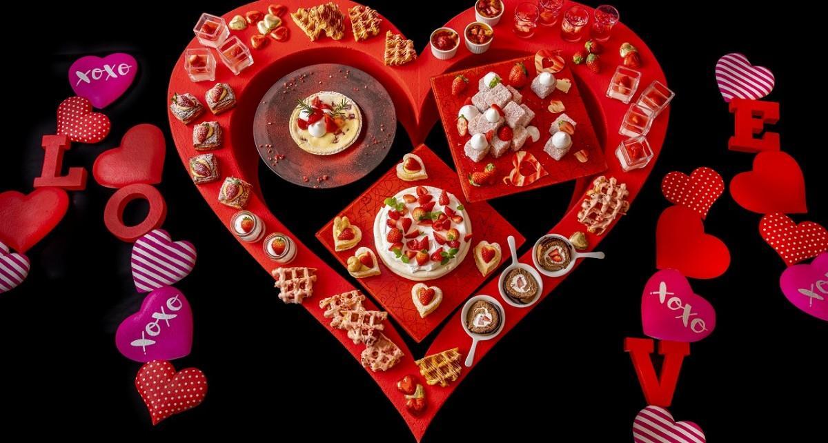 「Love for you」をテーマに「苺(イチゴ)のデザートビュッフェ&アフタヌーンティー」
