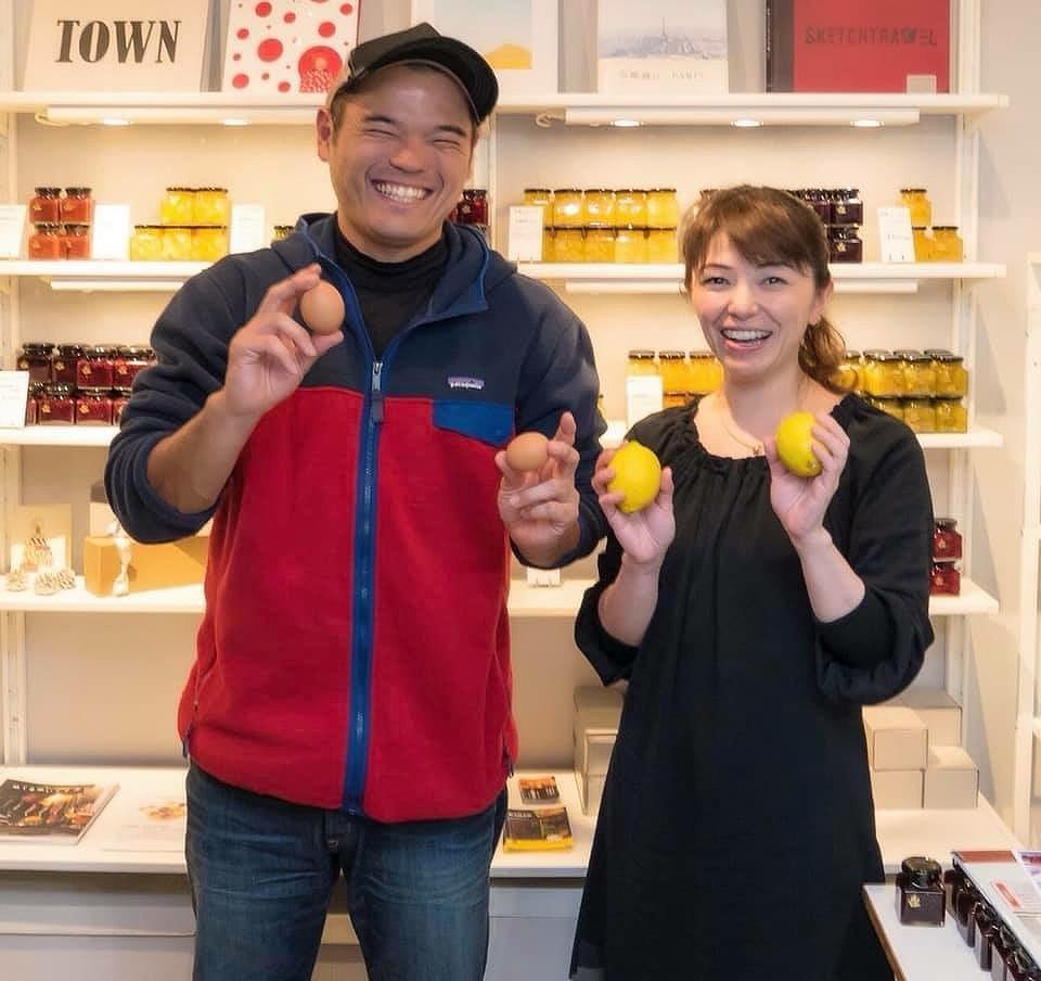 「旅するコンフィチュール」の違克美さん(右)と「春夏秋冬」の檀上貴史さん(左)