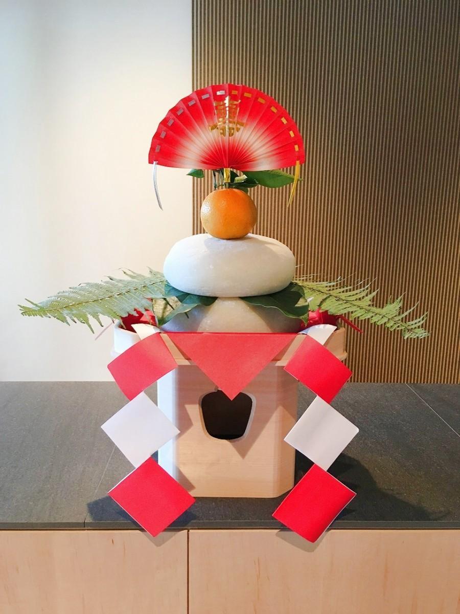 箱根 緑樹山荘に飾られた鏡餅