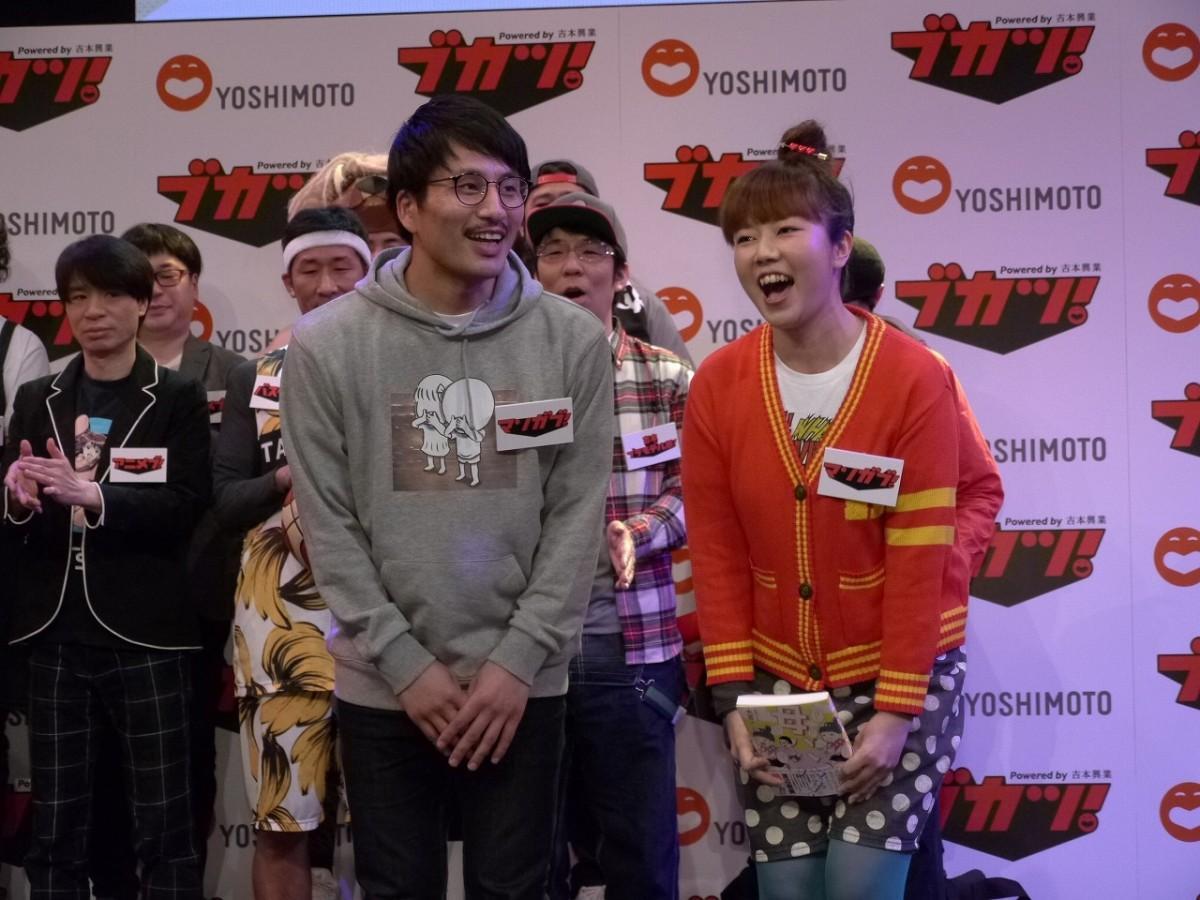 パラデル漫画の本多修さん(左)