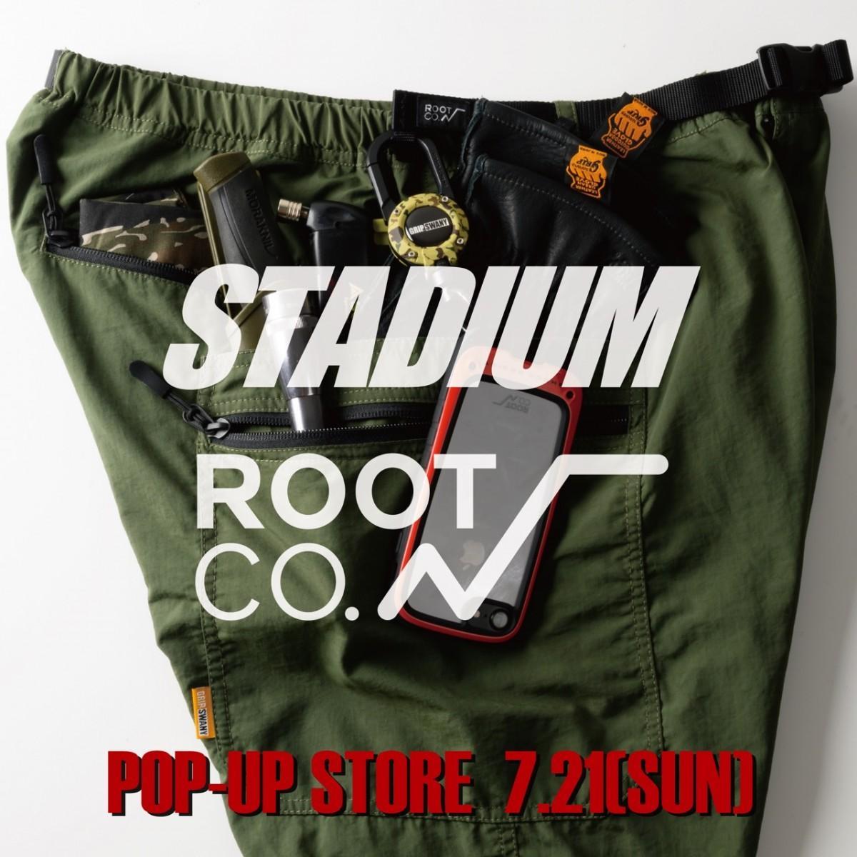 「First & Stadium」にROOT CO、GRIPSWANYのポップアップストア開店の訴求ビジュアル