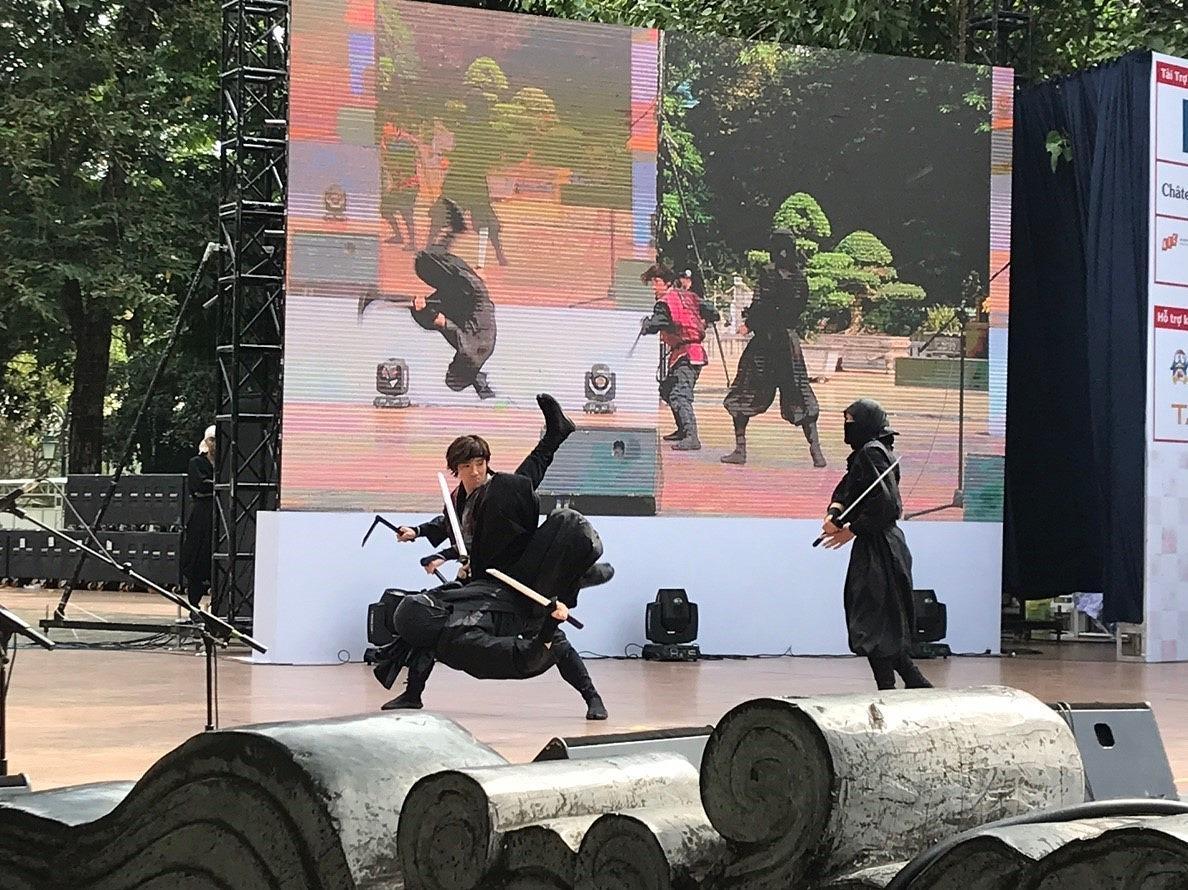 「風魔忍者」をテーマにしたステージ公演「FUMA NINJA Legend of ODAWARA」の公演(前回の様子)