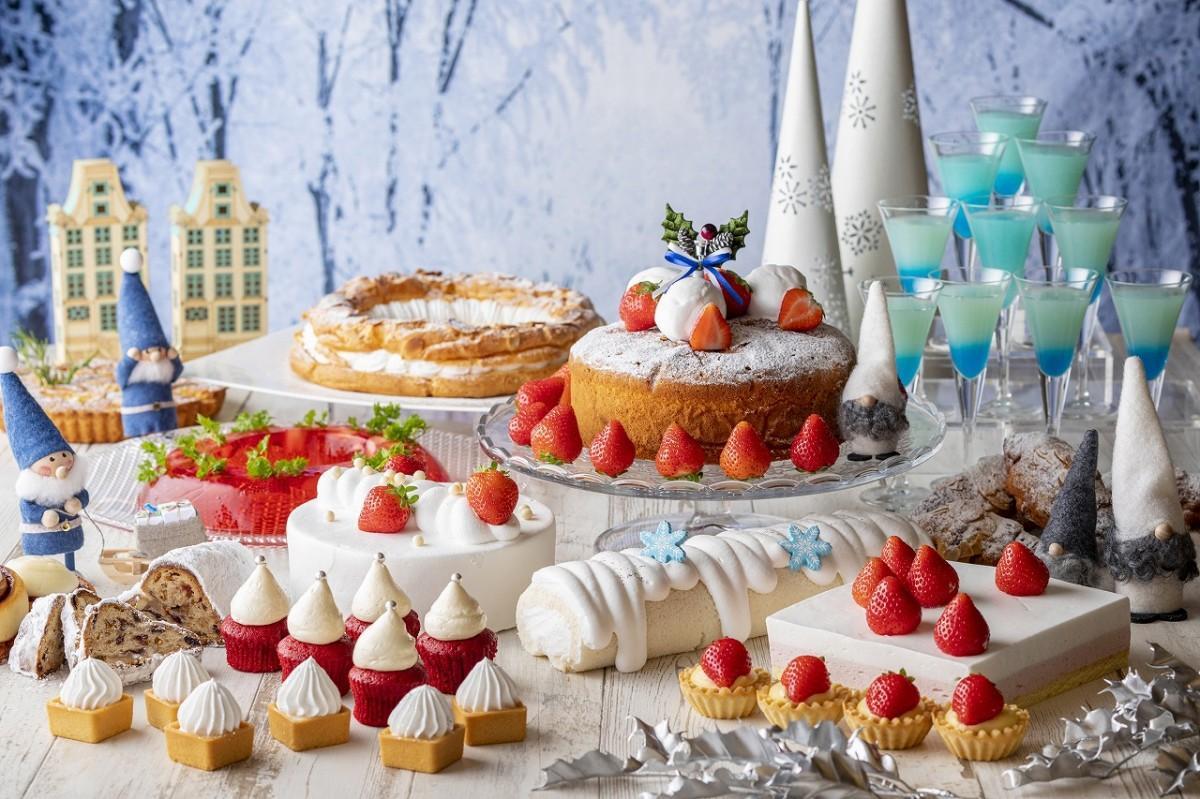 20種類のデザートメニューが味わえるビュッフェ「ホワイトクリスマス ピーチャの大冒険」