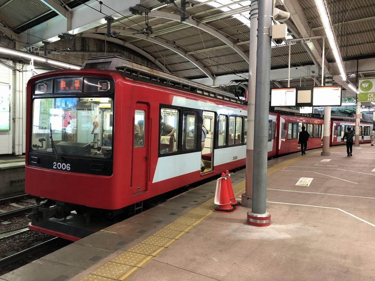 箱根湯本駅発強羅駅行きの一番列車