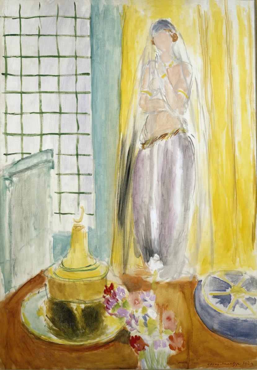 ニューヨークのピエール・アンド・タナ・マティス財団コレクションから送られてきた「立つオダリスクと火鉢」