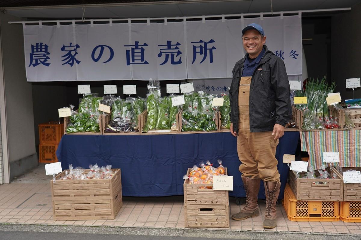 東京・西麻布にオープンした「農家の直売所・春夏秋冬」(11月1日・オープン前に撮影)