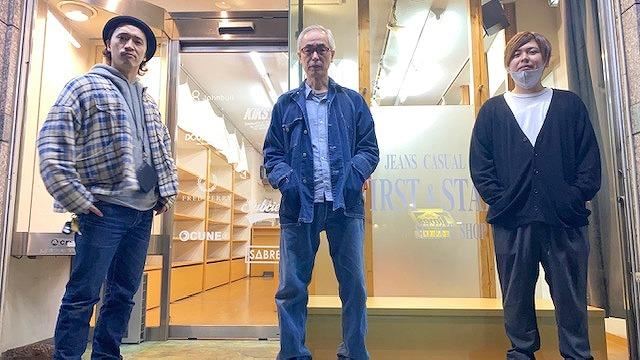 「First & Stadium」のメンバー(左から佐野陽平さん、佐野雅男さん、スタッフの平山拓実さん)