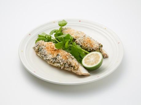 マヨ1グランプリ大分代表の料理「魚のロースト 山のマヨパテのせ」