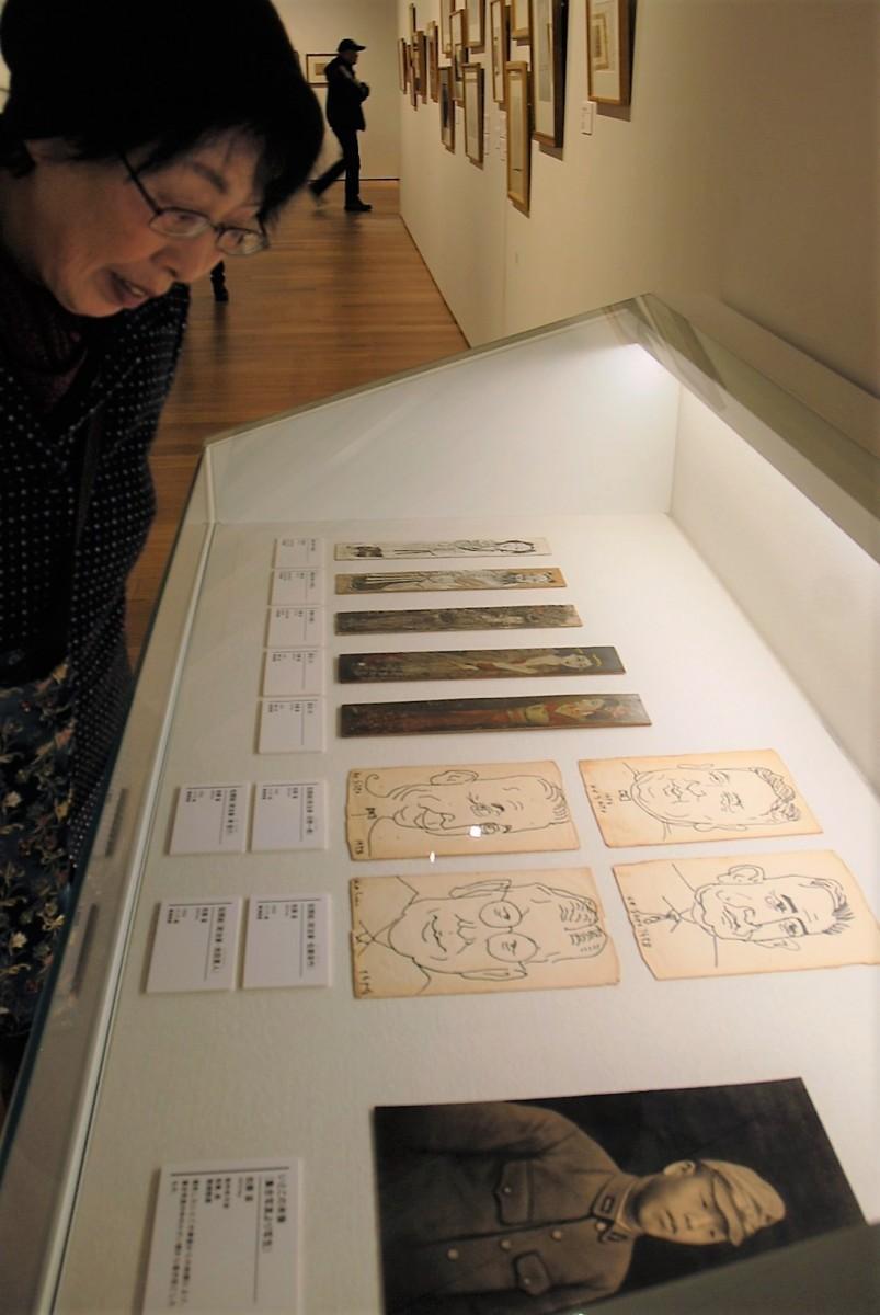 佐藤が残した鉛筆による肖像画や似顔絵