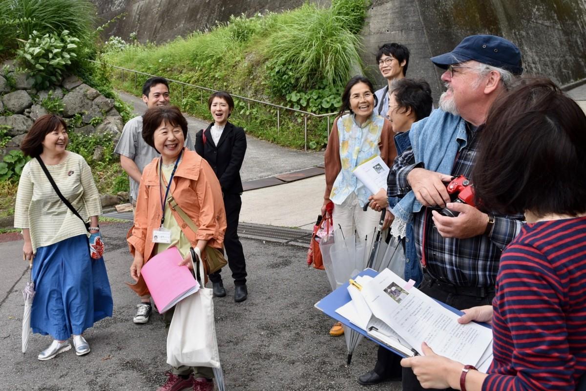 「ひじはく」で行われた英語観光ガイド