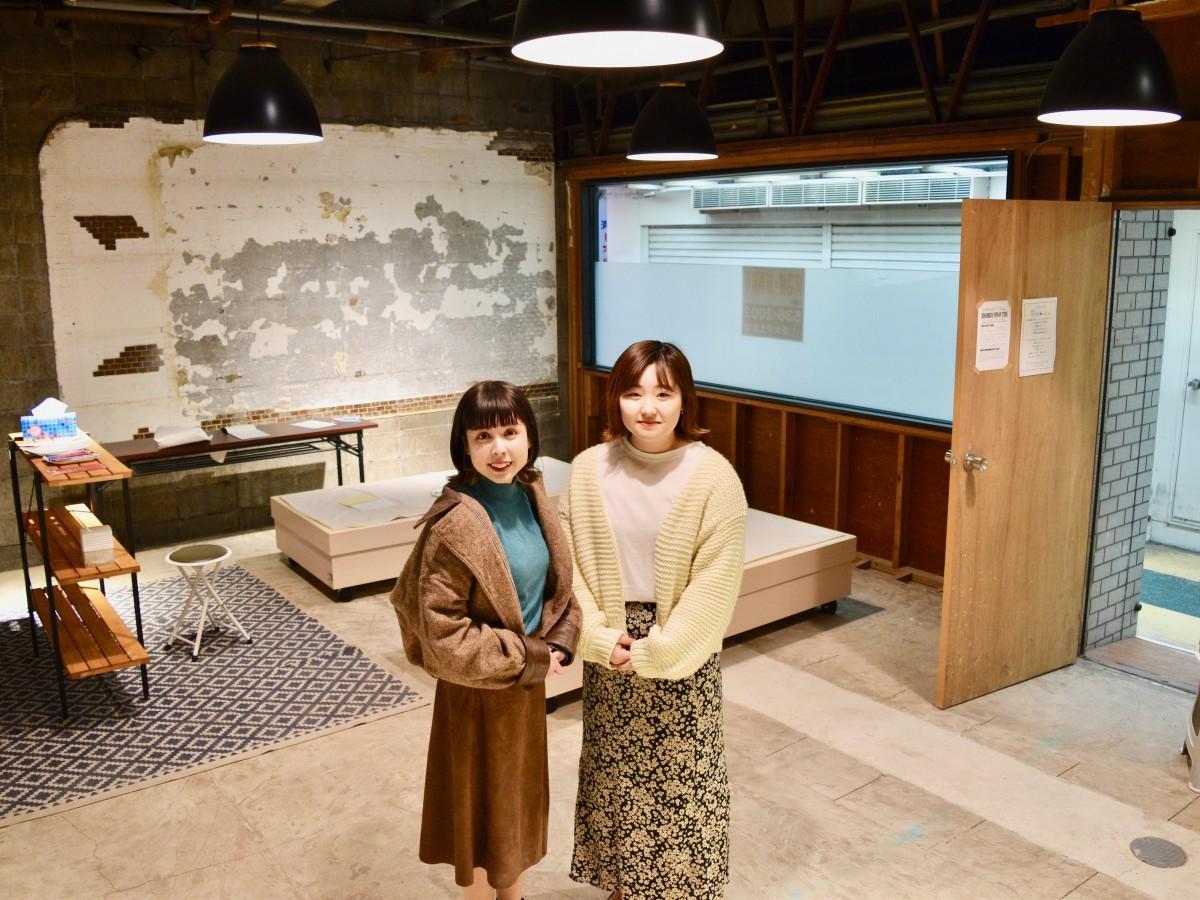 「開き店舗」をオープンした吉田さん(左)と開設に協力した宮本さん