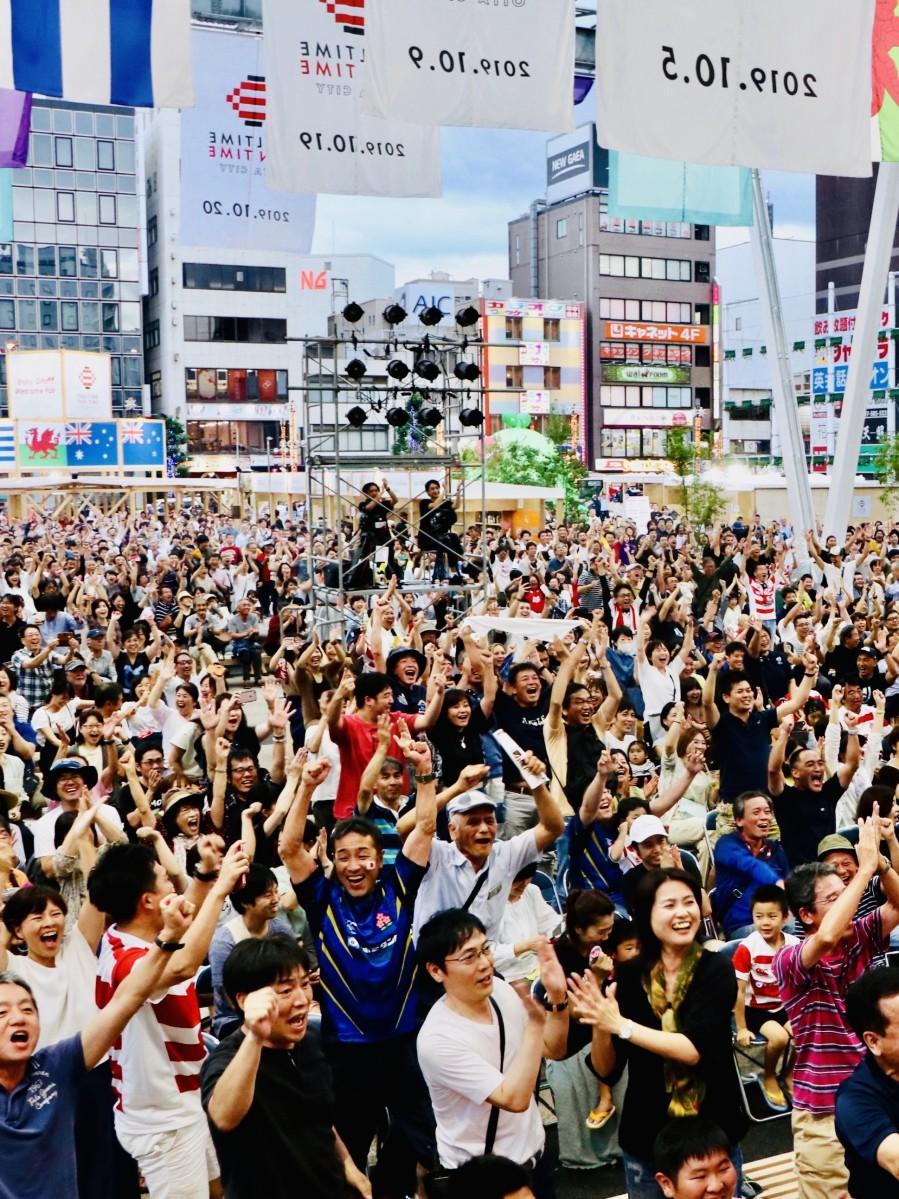 大分&OITAが「ラグビーW杯」に沸いた(祝祭の広場・9月28日)