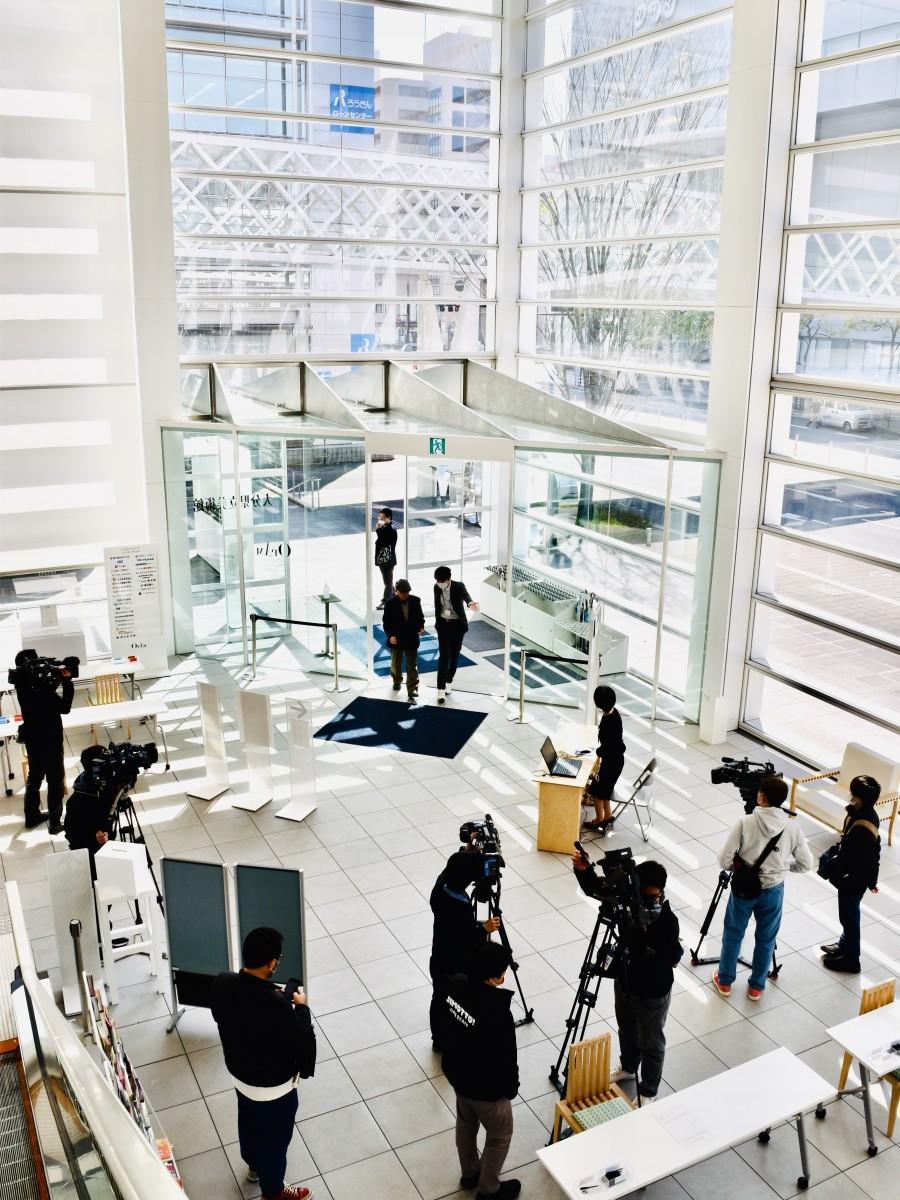 約1カ月ぶりに開館した大分県立美術館OPAM