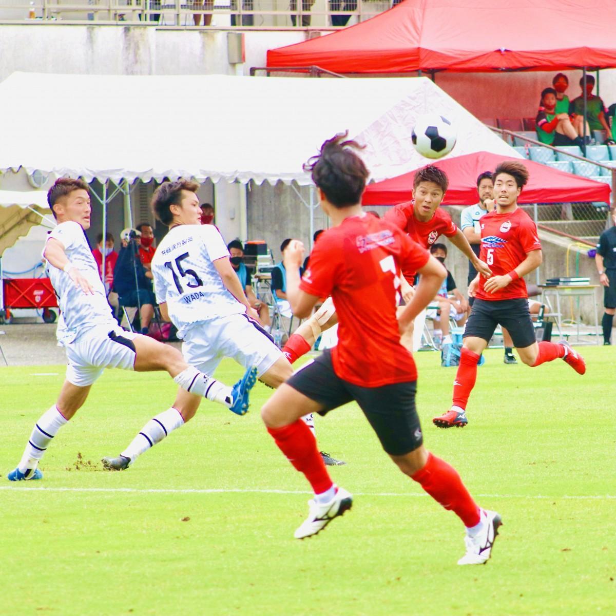 復調したヴェルスパは暫定3位まで浮上(6月5日の対FC大阪戦、昭和電工サッカー・ラグビー場で)