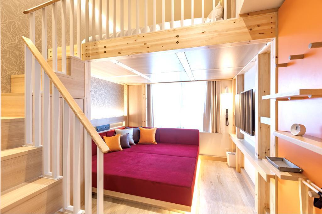 杉乃井ホテル「虹館」のロフトルーム(杉乃井ホテル提供)