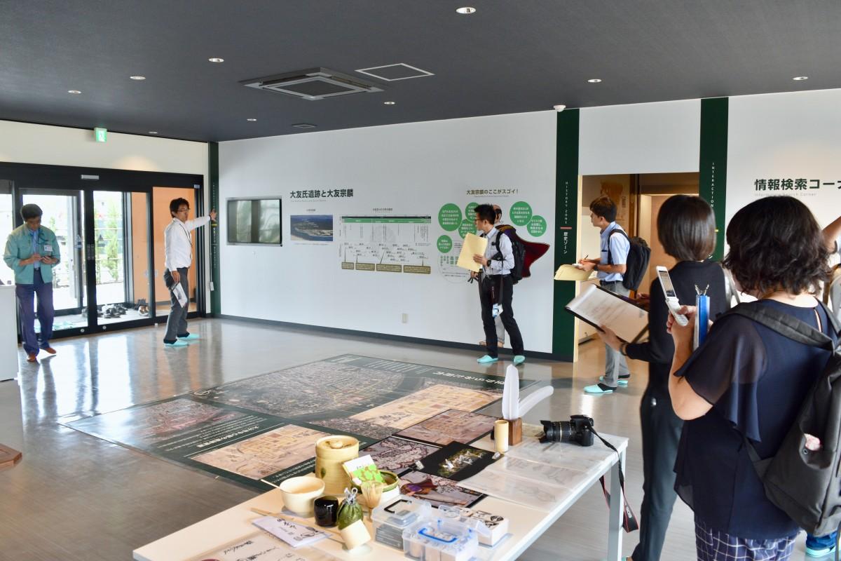 大分経済新聞大分市の「南蛮BVNGO交流館」で内覧会 大型スクリーンに宗麟の魅力ぎっしり