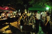 岡山・西川の月例屋外イベント「満月BAR」が2周年