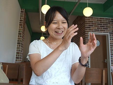 カフェフィロ副代表の松川さん