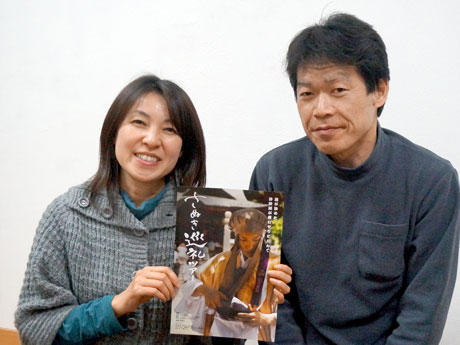 シネマファクトリーの吉田さんとボランティアスタッフの矢吹伸二郎さん