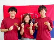 大学生がファジアーノ岡山を応援するフェースペイント 100人で観戦客を笑顔に