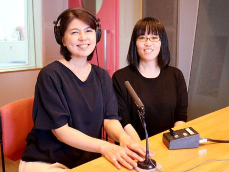 森田恵子さん(左)と入野真由美さん
