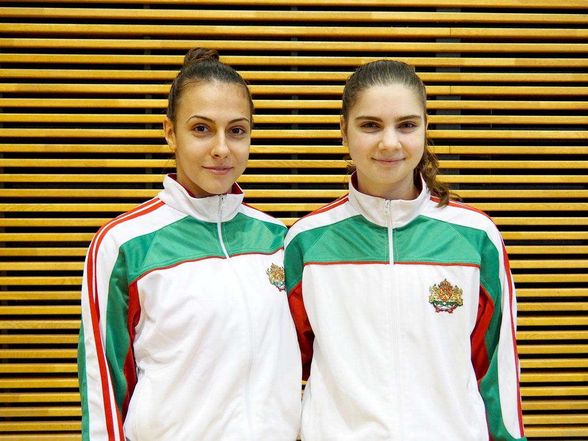 ブルガリア共和国バドミントンナショナルチームのマリヤ・ミツオヴァさん(左)とマリヤ・デルチェヴァさん