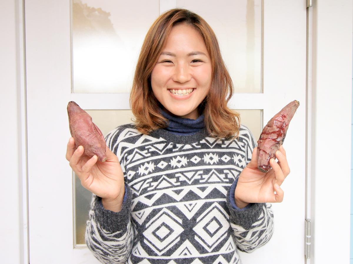 「焼き芋ルピナス」店主の塩貝有世さん