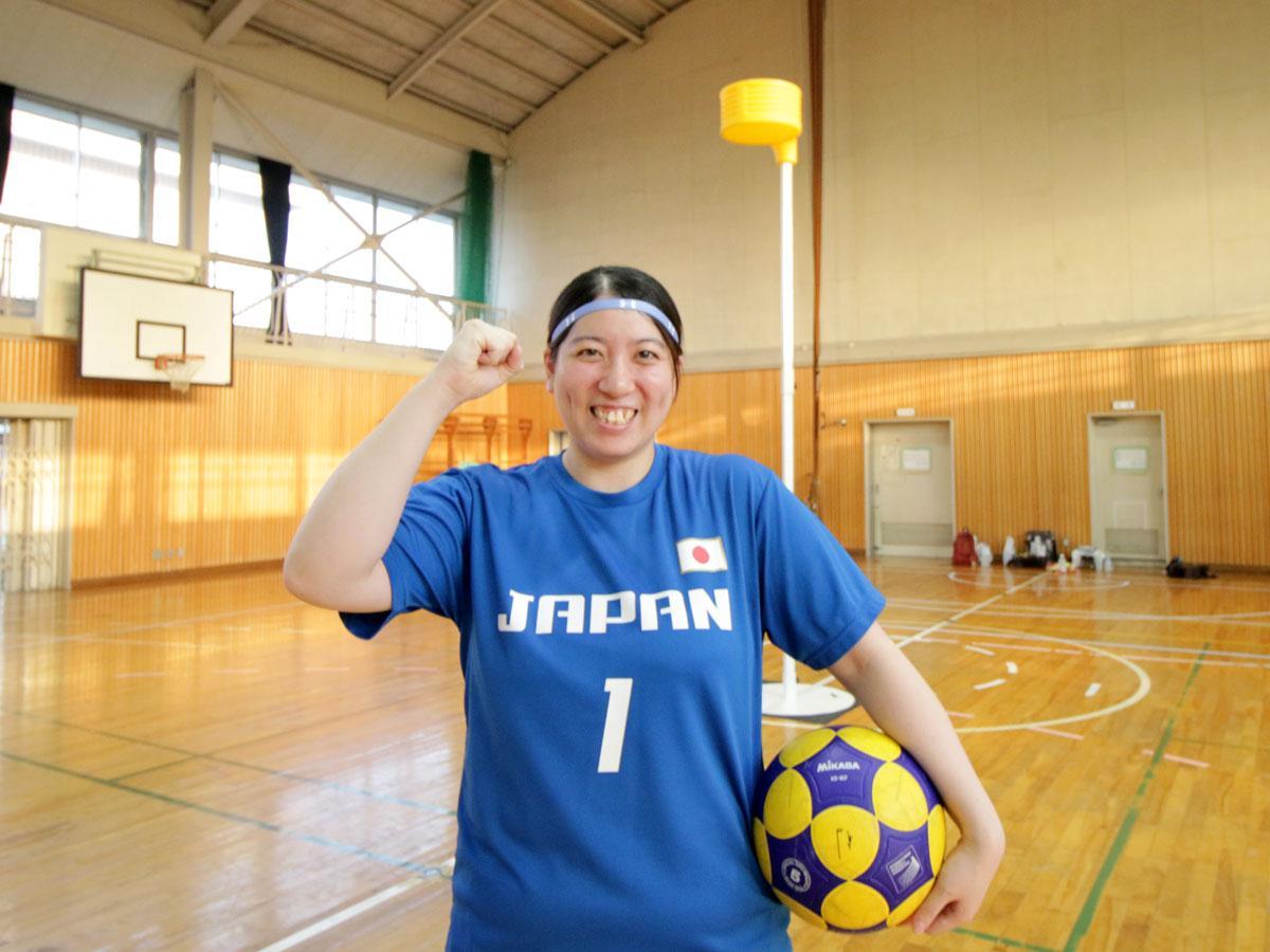 コーフボール日本代表の田中千智選手