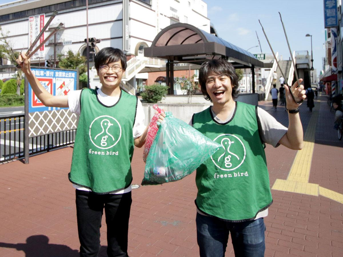認定NPO法人グリーンバード岡山チームリーダーの後藤寛人さんと菊竹有希さん
