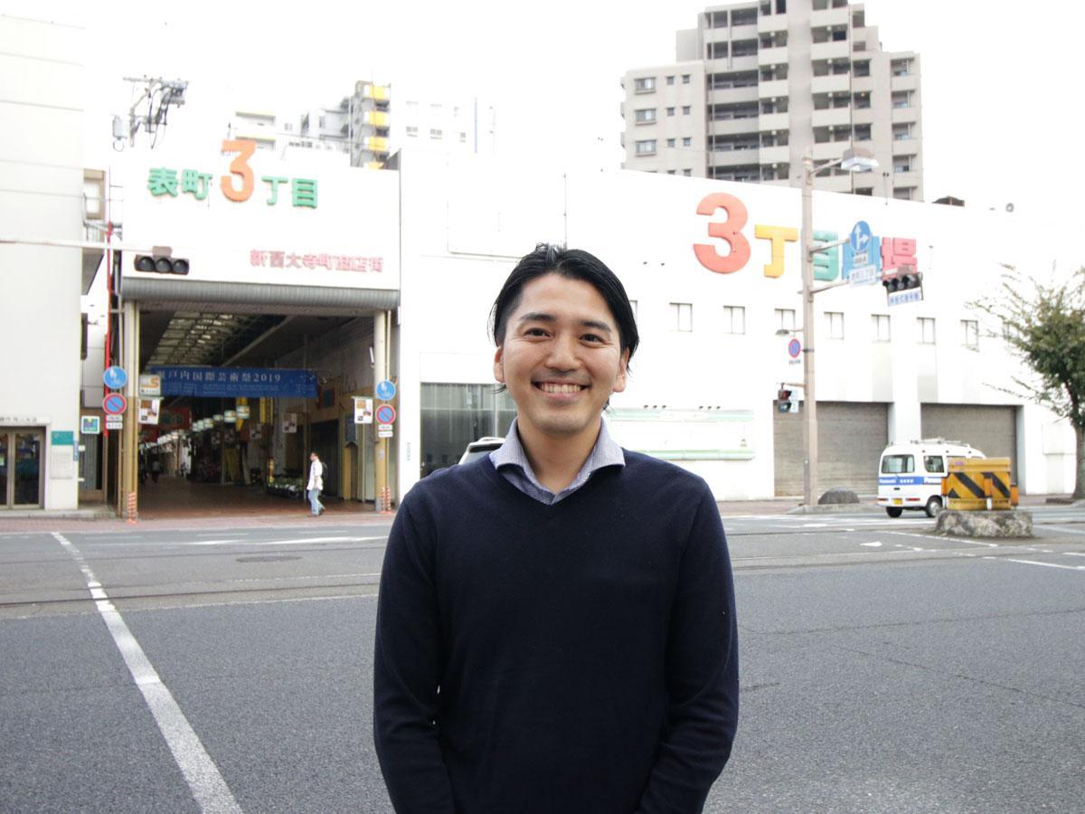 「裏話100人カイギ」発起人の井上晃嘉さん