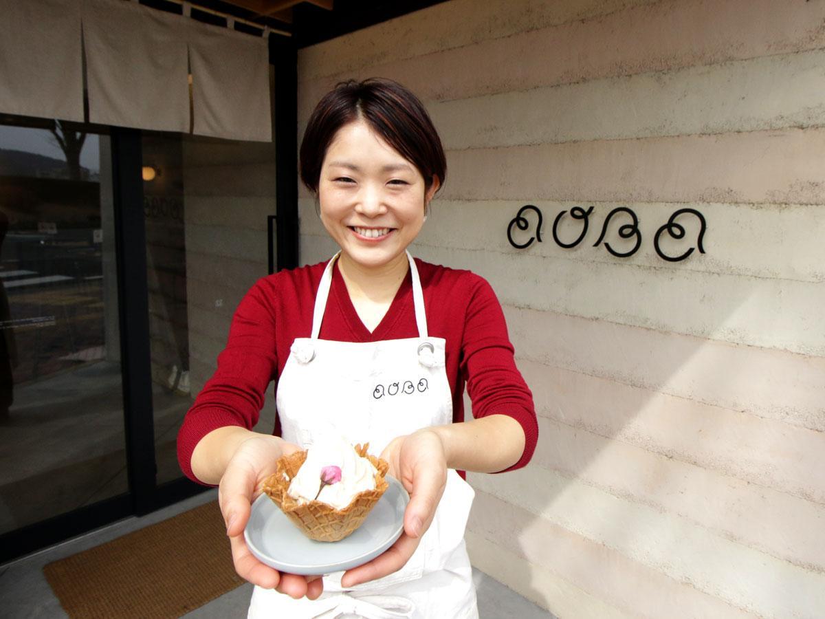 「畑でとれるアイスのお店AOBA(アオバ)」の店長・伊藤諒(りょう)さん