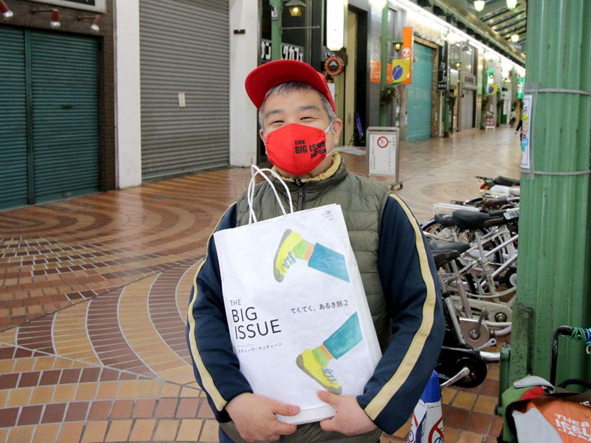 岡山で雑誌「ビッグイシュー」の販売員をするコタニさん