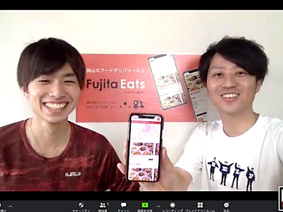「Fujita Eats」を行う藤田酒店の店主・藤田圭一郎さん(右)とスタッフの中藤寛人さん(左)