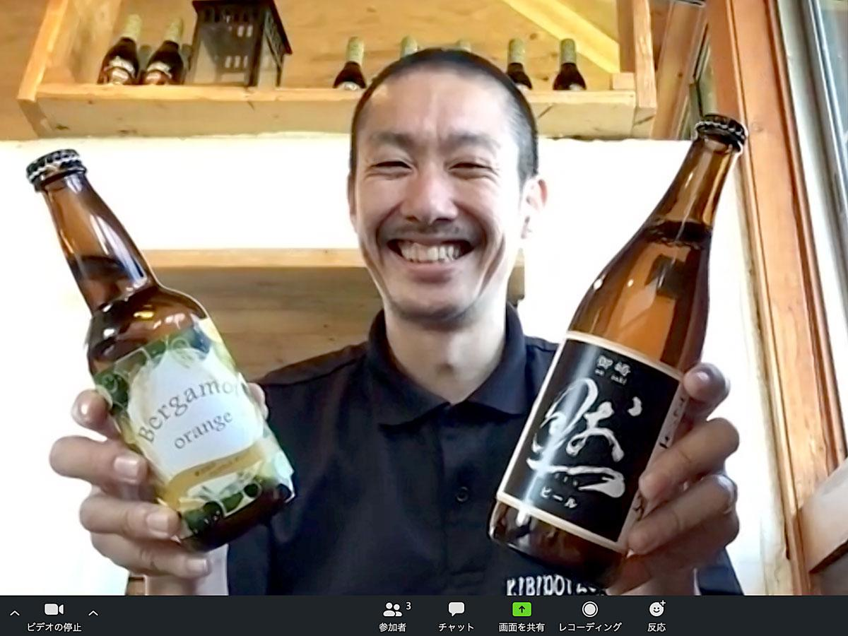 クラフトビールの配達サービスを始めた「吉備土手下麦酒醸造所」の永原康史さん