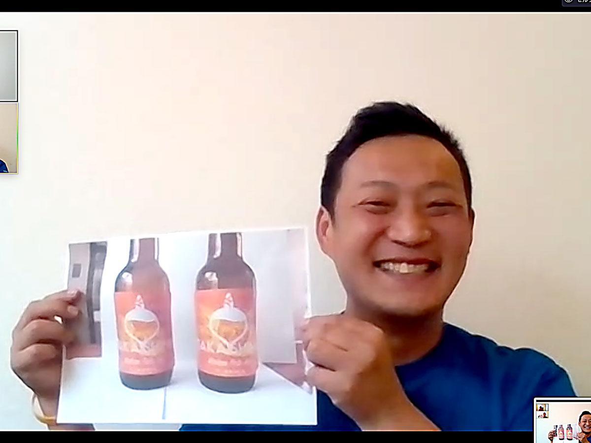 キンカンのクラフトビールを販売する予定の「六島浜醸造所」の井関竜平さん