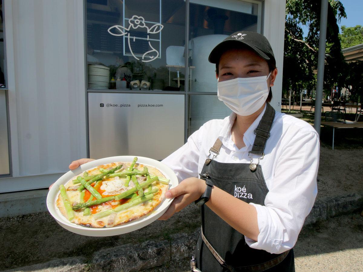 ピザ店「koé pizza okayama」のスタッフ後藤明里さん