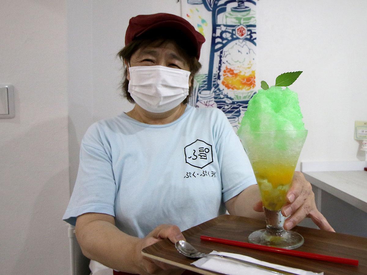 かき氷店「ぷくぷく氷」の南美智子さん