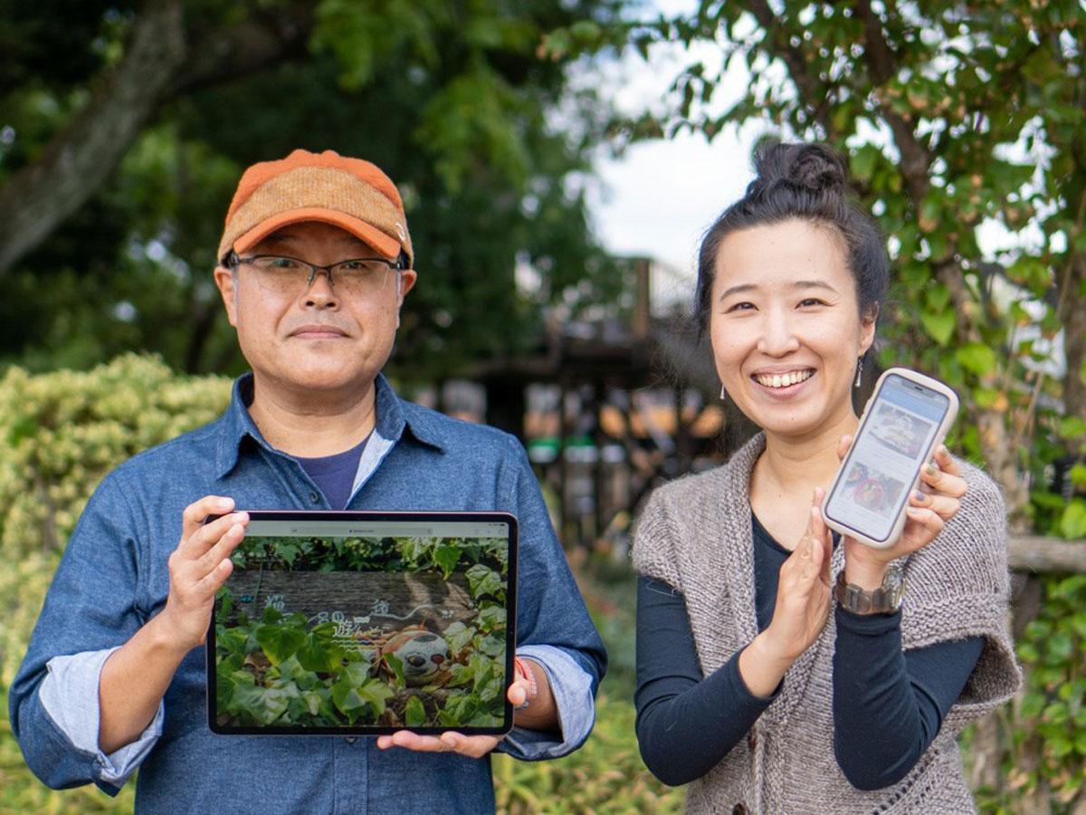 (左から)「備後とことこ」のライターの西山博行さんとツイッター担当の小林美希さん