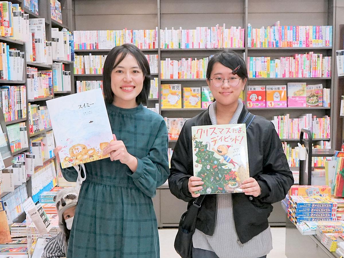 (左から)NPO法人チャリティーサンタ理事の河津泉さん、スタッフの水口里歩さん