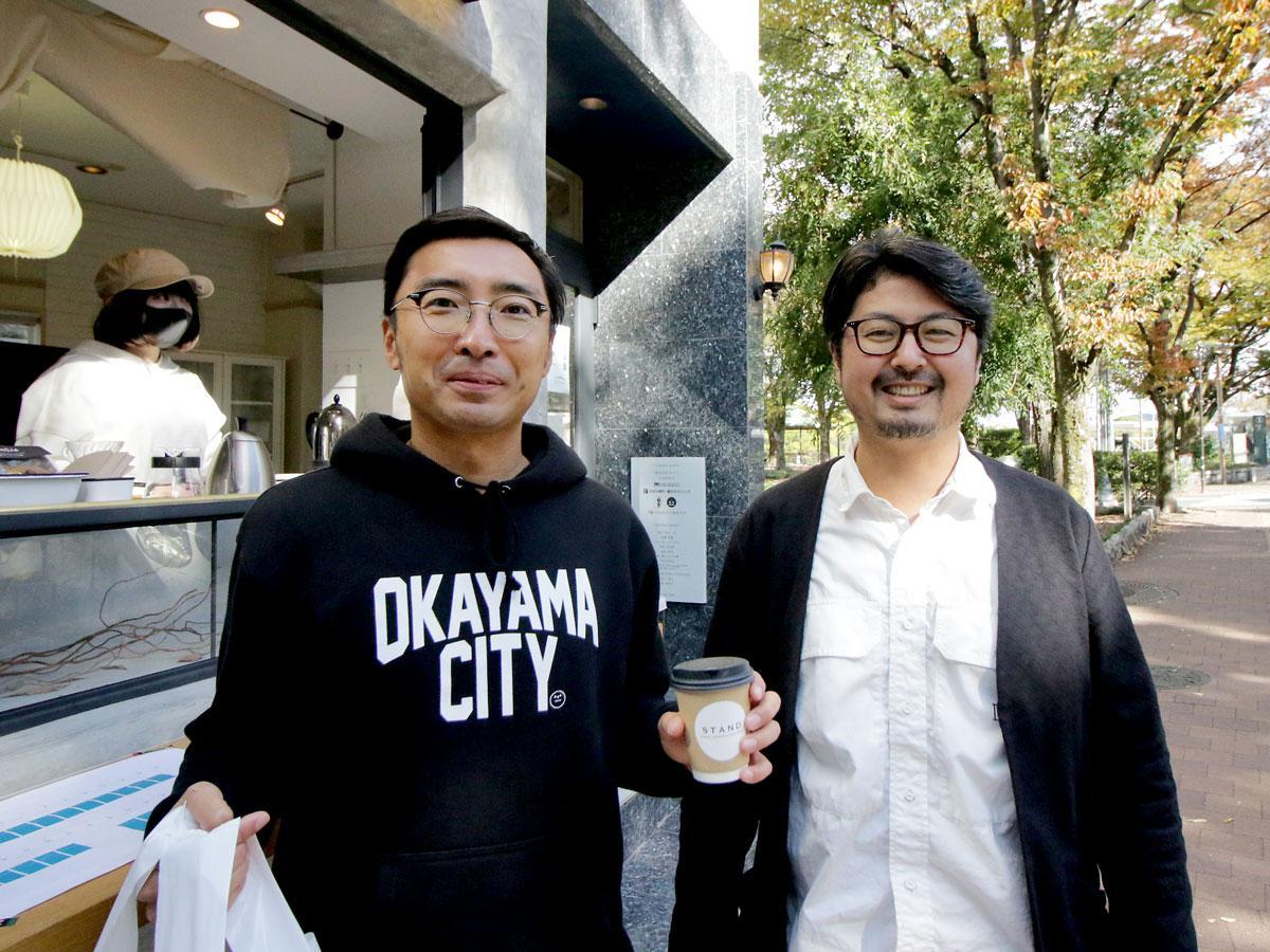 (左から)まちづくり会社「カタマラン」の久山信太郎さんと打谷直樹さん