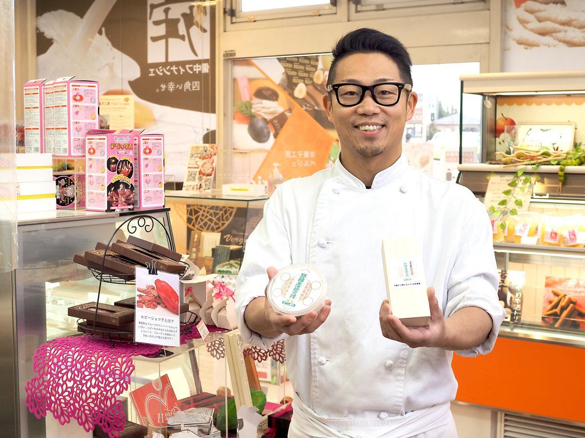 洋菓子店「ベルジェ」店主の加賀琢也さん