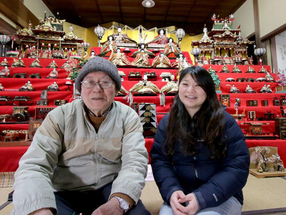 村上治平さんと地域おこし協力隊の矢動丸祐子さん