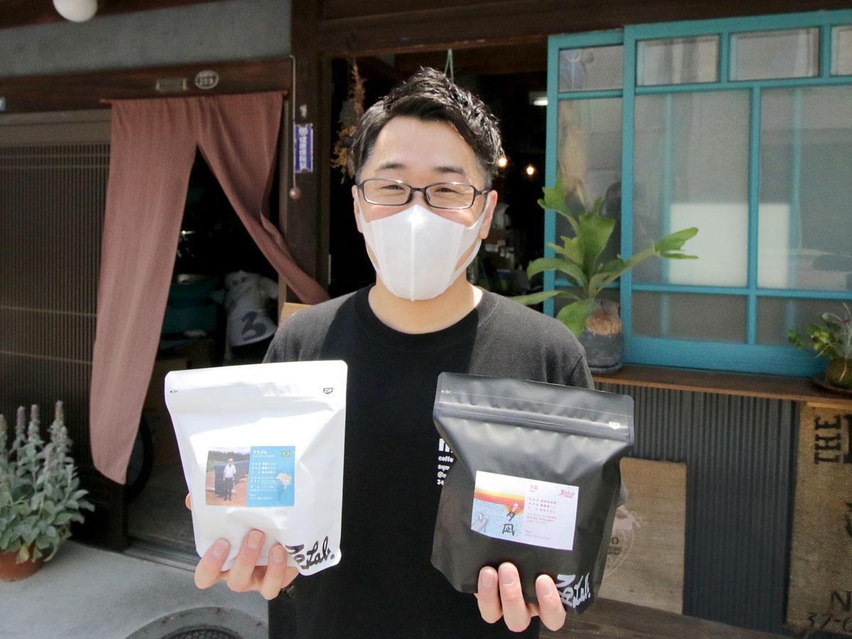 「珈琲焙煎所・豆lab」の田村大輔さん