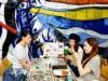 岡山駅に岡本太郎と桃太郎が集うカフェ アート鑑賞とオリジナルメニュー10種を