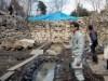 岡山・備中松山城で大池発掘調査説明会  内部調査するが謎は多い