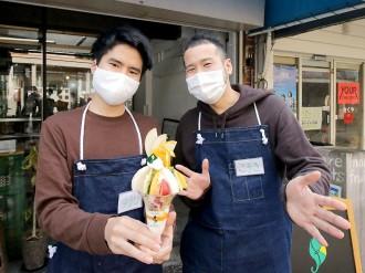 岡山の出張パーラーが新成人にお祝いパフェ 「いい思い出を残して」