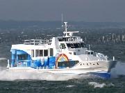西尾・一色港~佐久島の定期船「第三さちかぜ」完成-バリアフリーで軽量・高速化