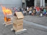 岡崎の建築業・木材加工、小原木材がオープンファクトリー-不燃木材PRも