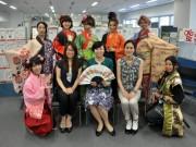 岡崎ビジネスサポートセンターに戦国姫隊と岡崎武将隊小松姫-女性応援大使